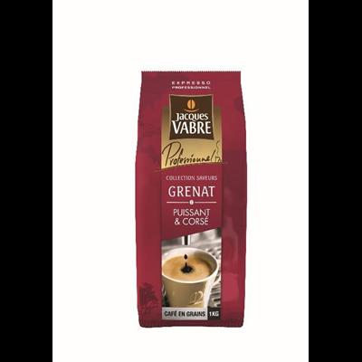 Cafe en grains sierra puissant et corse 1 kg jacques vabre grenat