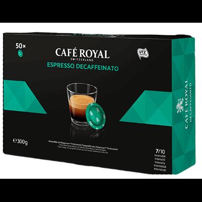 Cafe espresso decaffeinato forte 50 capsules office pads 300 g 1