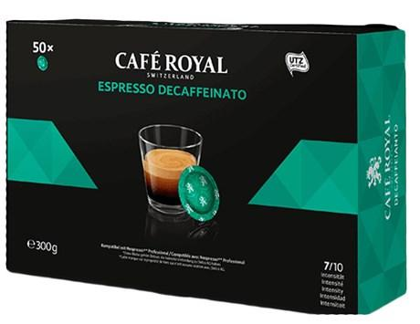 Cafe espresso decaffeinato forte 50 capsules office pads 300 g pour professionnels