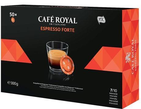 Cafe espresso forte 50 capsules office pads 300 g pour professionnels