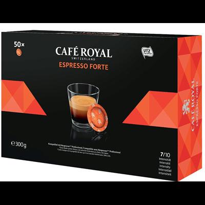 Cafe espresso forte 50 capsules office pads 300 g