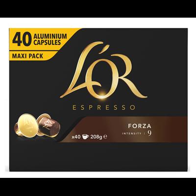 Cafe espresso forza 40 capsules l or