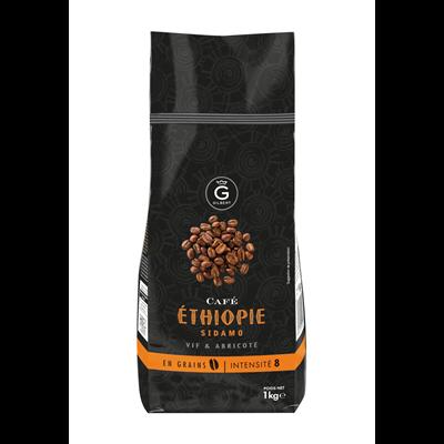 Cafe ethiopie en grains intensite 8 1 kg gilbert