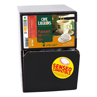 Cafe liegeois puissant 50 dosettes
