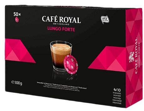 Cafe lungo forte 50 capsules office pads 300 g pour professionnels