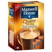Cafe maxwell house qualite filtre 100 sticks pour professionnels