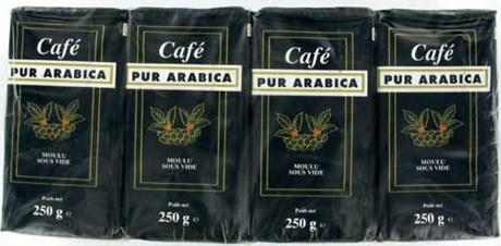 Cafe moulu arabica 12 x 250 g cafe pour bureaux