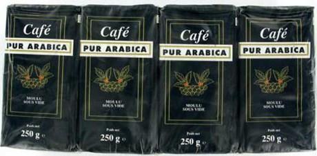 Cafe moulu arabica 12 x 250 g pour professionnels