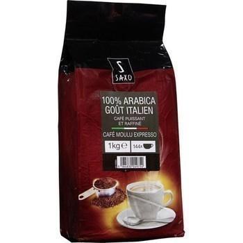 Cafe moulu expresso 100 arabica gout italien 1 kg