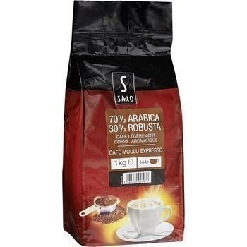 Cafe moulu expresso 70 arabica 30 robusta 1 kg
