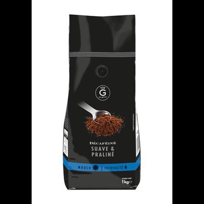 Cafe moulu intensite 6 decafeine 1 kg gilbert