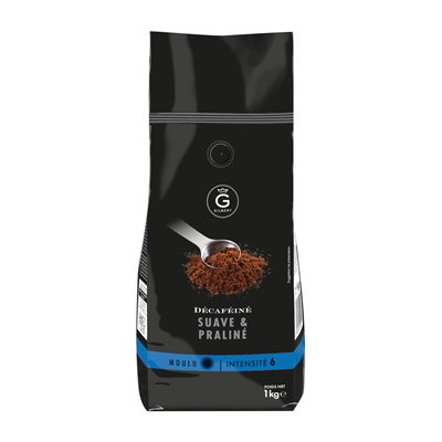 Cafe moulu intensite 6 decafeine 1 kg gilbert