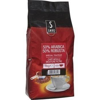 Cafe moulu mouture filtre 50 arabica 50 robusta 1 kg