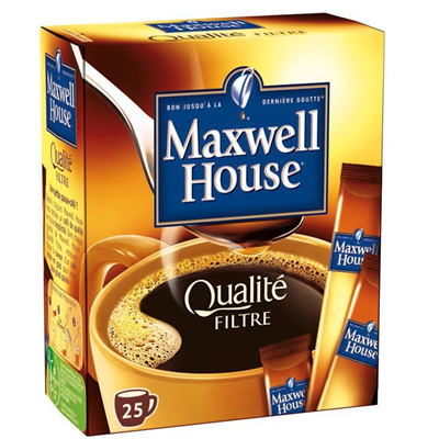 Cafe qualite filtre 25 sticks maxwell house