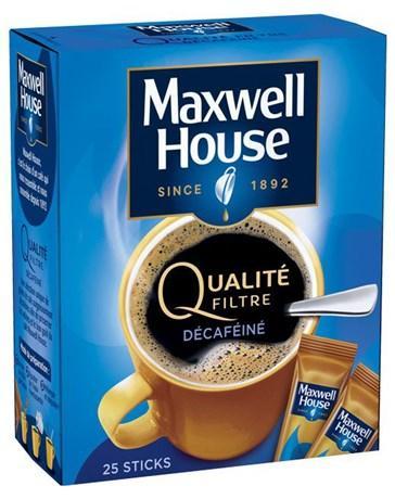 Cafe qualite filtre decafeine 25 sticks cafe pour bureau
