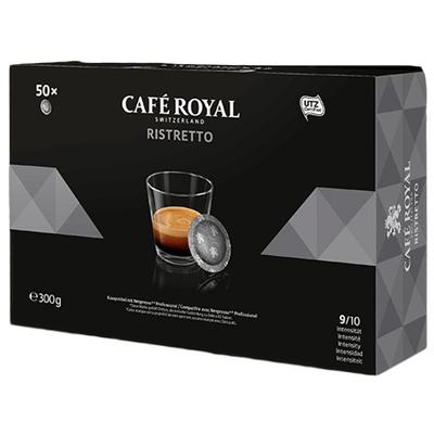 Cafe ristretto 50 capsules office pads 300 g 1