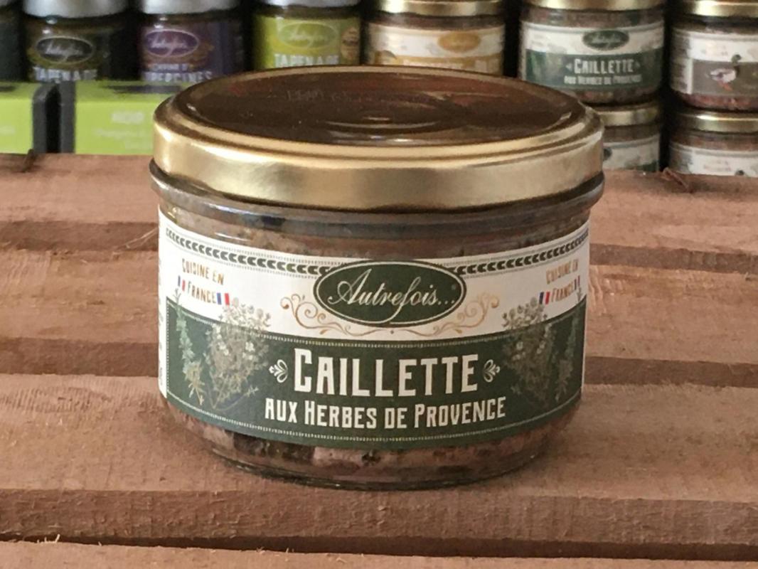 Caillette herbes provence 180g autrefois terroir milhaud gard 2