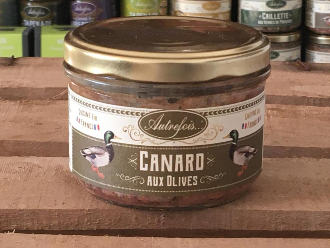 Canard olives 180g autrefois terroir milhaud gard 1