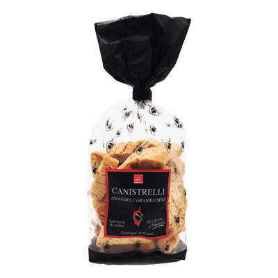 Canistrelli amandes caramelisees 250 g