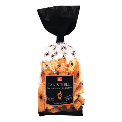 Canistrelli noisette clementine 250 g