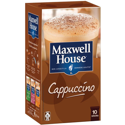 Cappuccino 10 sticks maxwell house