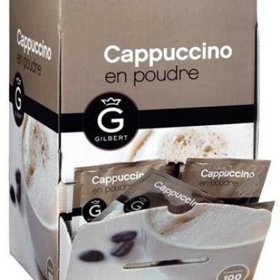 Cappuccino en dosettes 100 x 30 g gilbert pour bureau