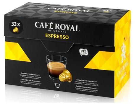 Capsule cafe royal espresso x 33 pour professionnels
