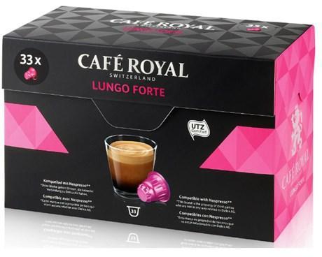 Capsule cafe royal lungo forte x 33 pour professionnels