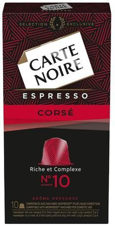 Capsule carte noire espresso corse n 10 x 10 53 g pour professionnels