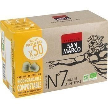 Capsule de cafe bio n 7 fruite intense x50 compatibles nespresso