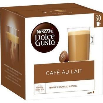 Capsules de cafe au lait 30x10 g dolce gusto