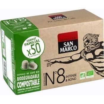 Capsules de cafe bio intensite n 8 x50 compatibles nespresso