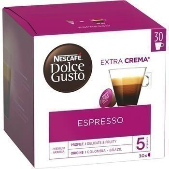 Capsules de cafe espresso 30x5 5 g dolce gusto