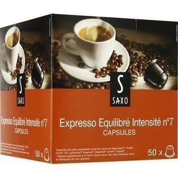 Capsules de cafe moulu expresso equilibre x50 compatibles nespresso
