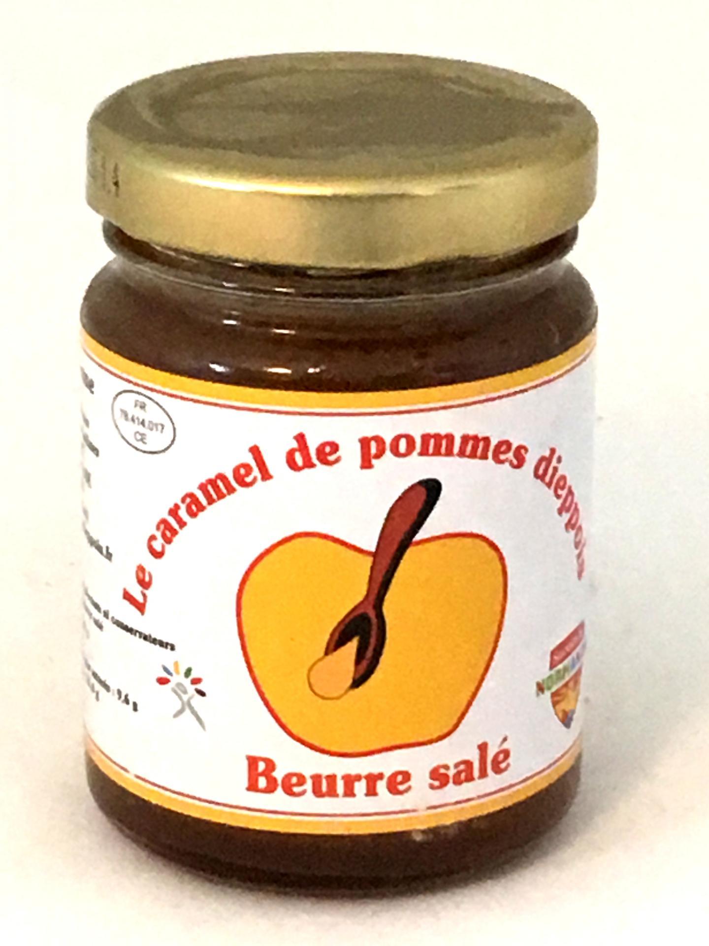 Caramel de pommes au beurre sale 110g bocal fabrique par un esat 1