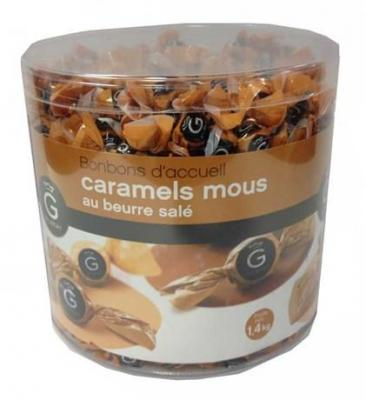 Caramels mous au beurre sale x 420 pieces gilbert pour bureau