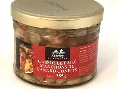 Cassoulet aux manchons de canard confits 385g bocal
