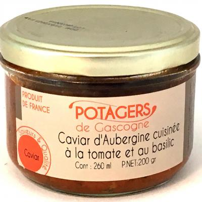 Caviar d aubergines cuisinees a la tomate et au basilic 200g bocal 1