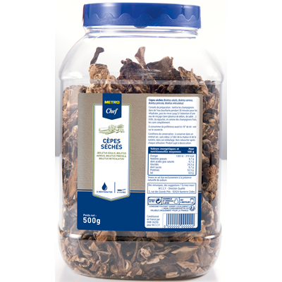 Cepes seches 500 g metro chef