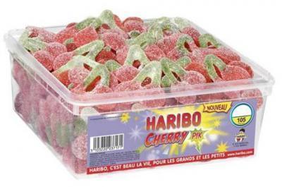 Cherry pik boite 105 pieces haribo bonbons en vrac