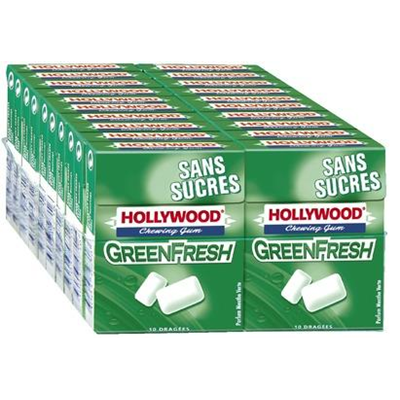 Chewing gum green fresh sans sucre vendu par 20 1
