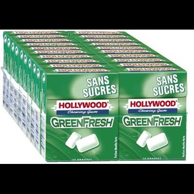 Chewing gum green fresh sans sucre vendu par 20 1