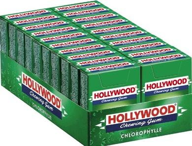 Chewing gum hollywood chlorophylle x 20