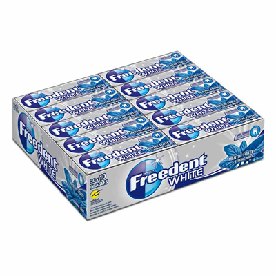 Chewing gum white menthe forte 30 x 10 dragees freedent