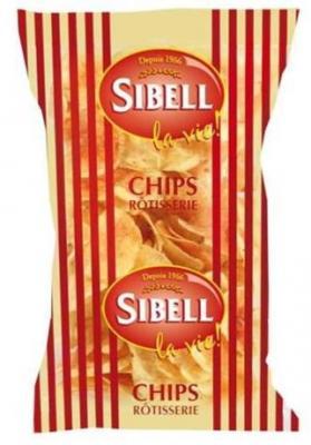 Chips rotisserie 120 g pour bureau