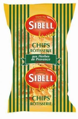 Chips rotisserie aux herbes de provence 120 g pour bureau