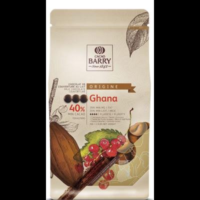 Chocolat de couverture au lait ghana 40 1 kg