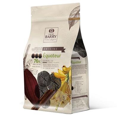 Chocolat de couverture noir Equateur 76% 1KG Barry