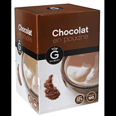 Chocolat en dosettes 100 x 20 g gilbert