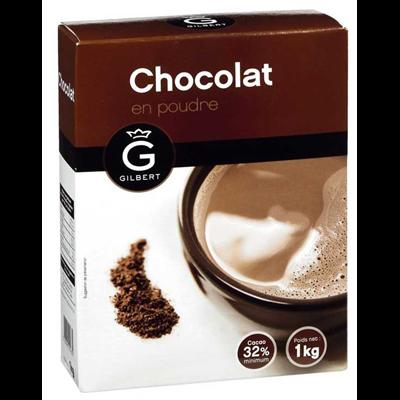 Chocolat en poudre 32 1 kg gilbert